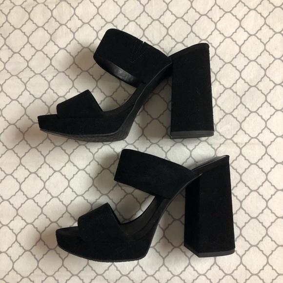 8d4d3e590331 bp Shoes - Black Platform Sandals - BP Sophia